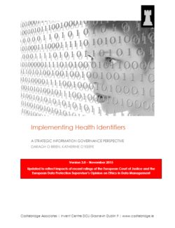 implementing health identifiers a strategic information governance review v3.0 0