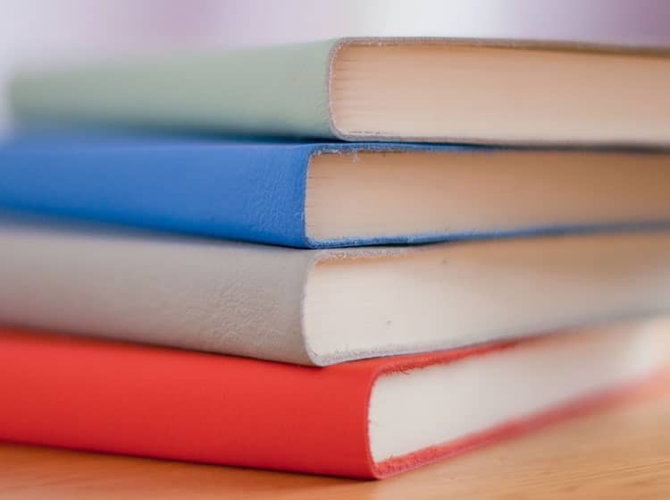 different colors of book