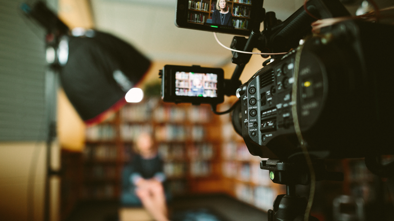 camera recording news