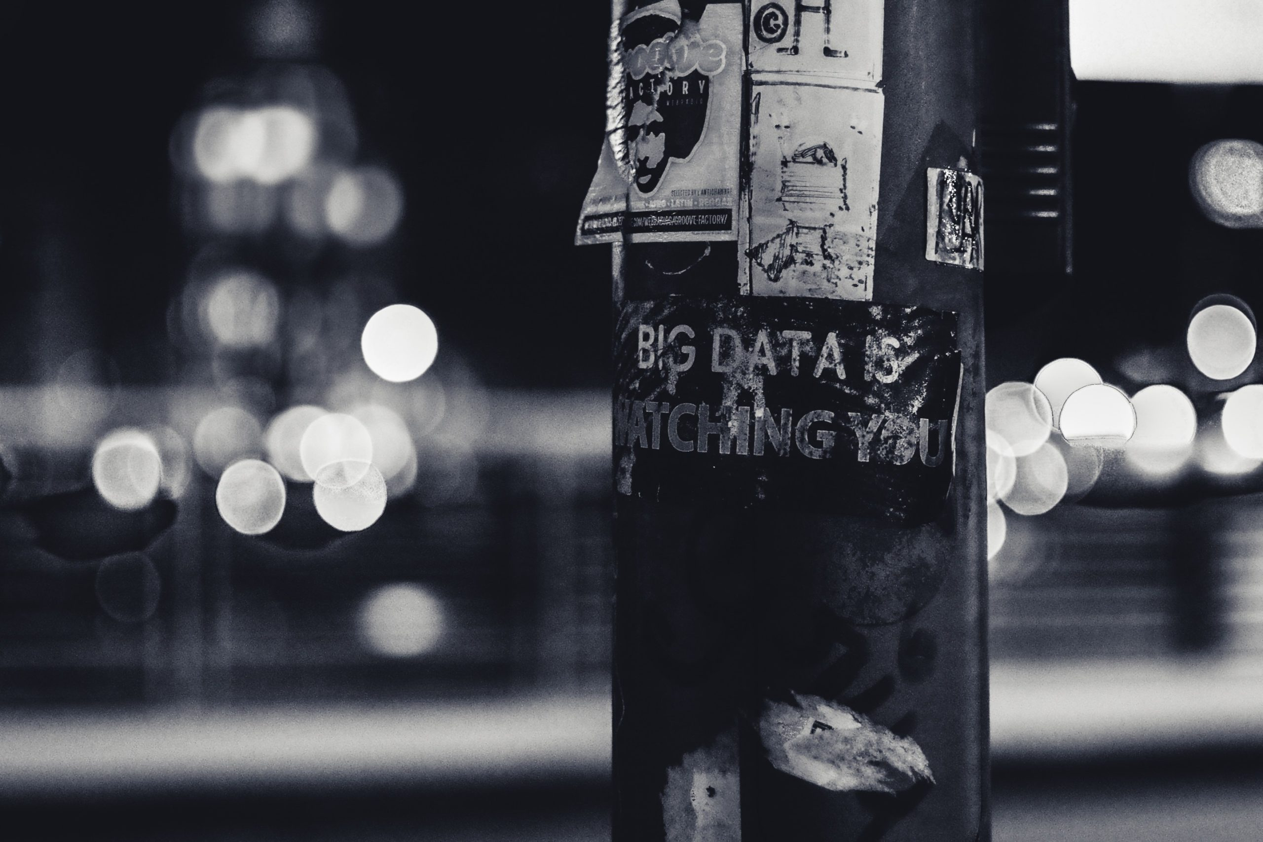 big data watching you write on the post