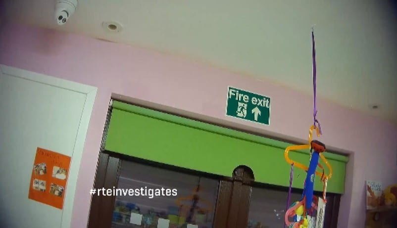 room in creche featured in RTE documentary with CCTV camera clearly visible