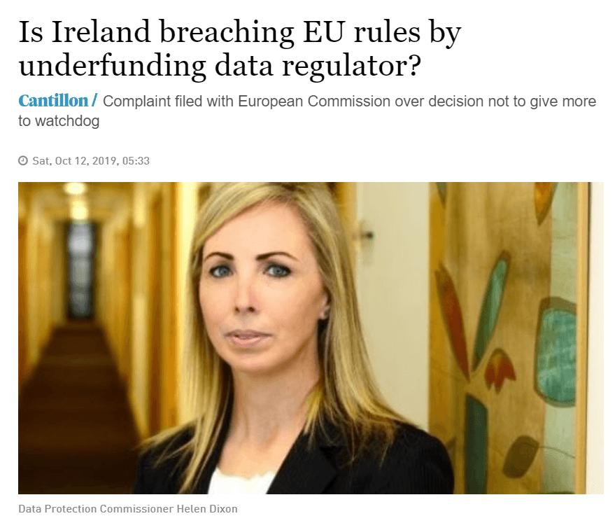 the Irish times page