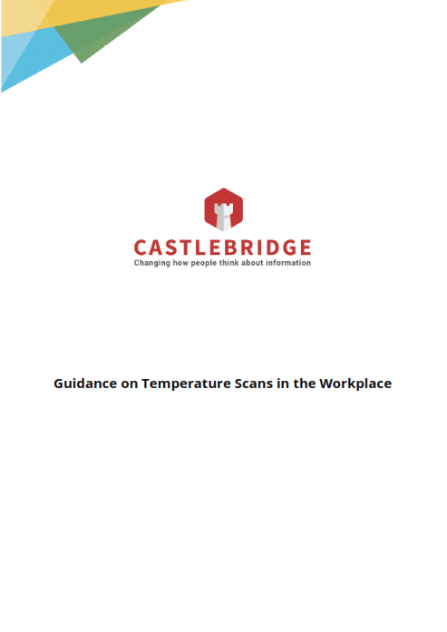 cover page of Castlebridge Guidance on Temperature Scans in the Workplace