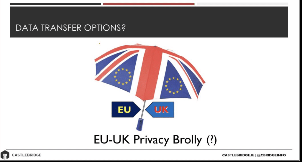 "Spoof logo for post-Brexit UK/EU data transfer deal - ""Privacy Brolly"""