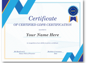 image of a fake certificate of certified certification