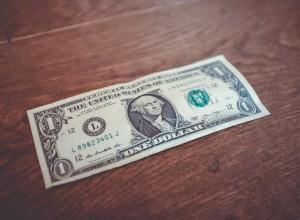 dollar on the table